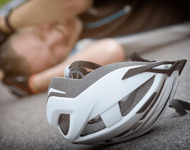 helmet laying on ground