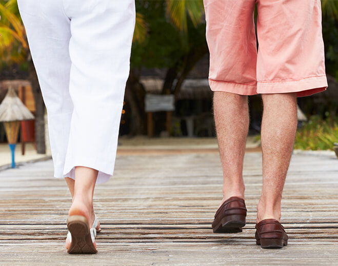 People walking showing just ankles and calves